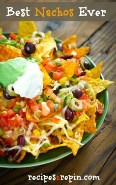 Best nachos recipe. The other pins of this recipe go to a media cache, NOT the real recipe. And the original blog was deleted. #nachos #superbowl