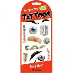 Temporary Tattoos Body Wear from Peaceable Kingdom
