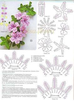 FREE DIAGRAM ~ A crochet bouquet of flowers! <3
