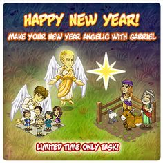 LIKE and SHARE if JESUS watches over you!  Hurry! Time is running out!  Build the limited time New Year's Angel and Shepherd Relics for your hometown! PLUS, once completed, you will get Archangel Gabriel to add to your hometown! Get yours today!