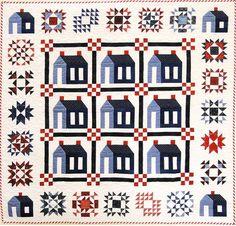 hous sampler, sampler quilts, quilt shop, creek quilt