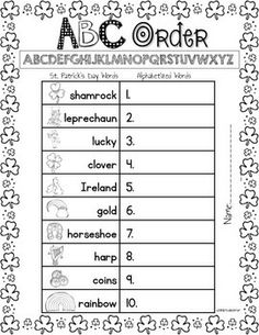 ST. PATRICK'S DAY PRINTABLES: BLACK-LINE MASTERS FOR IMMEDIATE CLASSROOM USE - TeachersPayTeachers.com