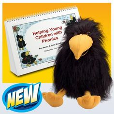Helping Young Children with Phonics Kit- Phonics Activities for Early Years. This kit includes a book written by Ros Bayley and Lynn Broadbent with 30 activities revolving around the mischievous crow Crispin. Crispin the puppet is also included in the kit and will help bring engagement and excitement to phonics for young children.