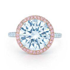 halo of pink diamonds
