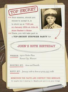Hallmark for Tiny Prints surprise party invitation