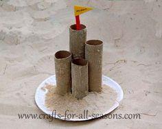 TP Tube Sand Castle Craft