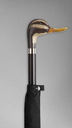 Burberry Duck Handle Walking Umbrella