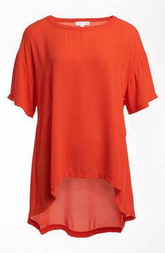 Leith Oversize High/Low Tee | Nordstrom