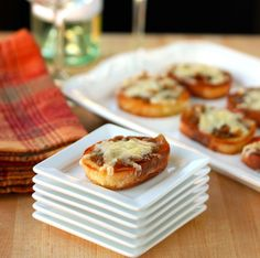 Lisa's Dinnertime Dish:  French Onion Cheese Toasts