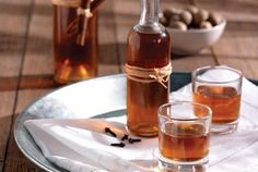 Homemade liqueur with mandarines