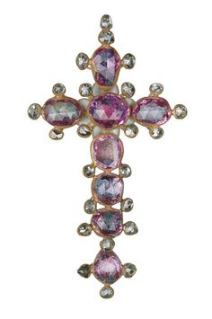 Gold pendant set with rubies and diamonds, ca 16th century