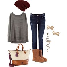plain comfy outfit -minus the ugg boots.