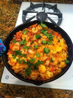 Spicy Cajun Shrimp Quinoa from my Clean Eating Kitchen katiekatiearbonne@gmail.com