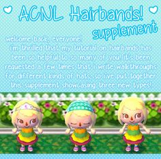 hairband supplement more acnl hairband positive response hairband