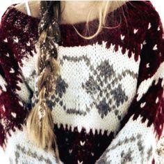 Big & cozy sweater.