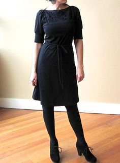 A Line Folded Dress Cotton Jersey Classic Style made by outofline