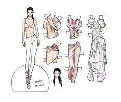 Fashion paper dolls | final fashion » paper doll – Rodarte Fall 2010