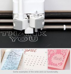 Examples of the write and cut functionality on the new Cricut Explore - inspiring!