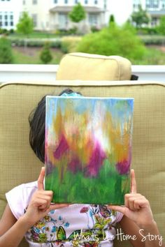Whats Ur Home Story: easy diy art, kid friendly abstract, easy acrylic painting tutorial
