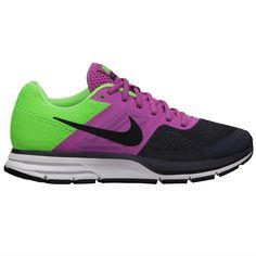 Nike Pegasus 30+ antraciet/paars/geel dames te bestellen bij Hardloopaanbiedingen.nl #Nike #hardloopschoenen