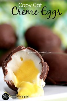 Copy Cat Creme Eggs.  Oh my gosh, you can make these!?
