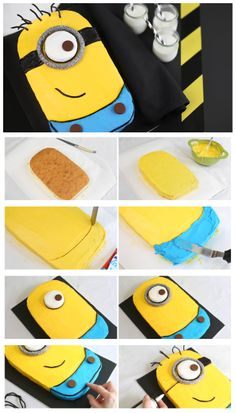 Despicable Me Minion Sheet Cake - Latest Food minion party food, despicable me party food, family birthdays, birthday parties, minion food ideas, minion cakes, sheet cakes, minion parti, birthday cakes