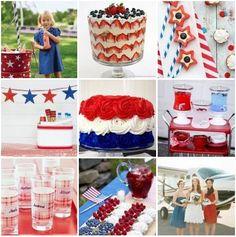 Patriotic Party Ideas ☛ http://pinterest.com/perfectpalette/patriotic-party-ideas/