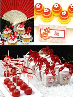 Chinese New Year Party via Bird's Party #ChineseNewYear #PartyIdeas #Festa #Chinesa #Anniversaire #Chinois #Party #PartySupplies #Pirntables #Food #Favors