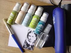 Transfer onto acrylic paint using just water