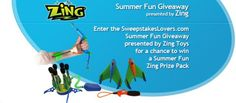 Enter the SweepstakesLovers.com Summer Fun Giveaway presented by Zing Toys for a chance to win a Summer Fun Zing Prize Pack !