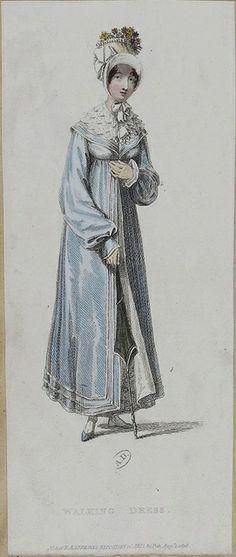 1816 Ackermann's Repository. Walking Dress.