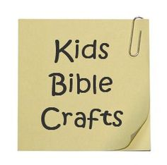 Bible Crafts for Sunday School