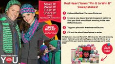 Enter Red Heart's contest! You can see the details and enter by clicking on this picture: http://www.redheart.com/red-hearts-pin-it-win-it