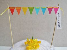 Sew Sweet Violet ~ Cake Bunting With Greeting Label