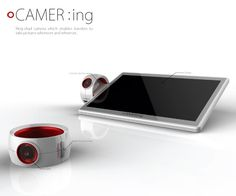 Camera ring! Be discreet taking pictures with a ring camera.  Connect to the tablet like slate to upload pictures and see how they turned out.