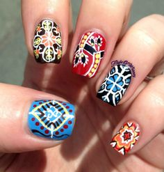 Patterned nail art