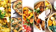 Sweet potatoes, kale, butternut squash, oh my! 5 one-bowl dinners filled with fall veggies. // Be Well Philly