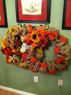 Fall wreaths.