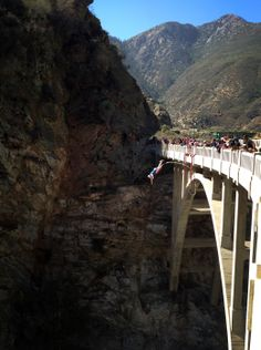 bungee jumping / Bridge to Nowhere, San Gabriel Mountains, Azusa, CA  my husband would never let me jump of this but i want to sooo bad