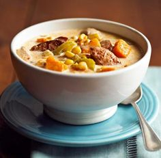 Sweet Potato-Corn Chowder: An update on the classic Midwest corn chowder.