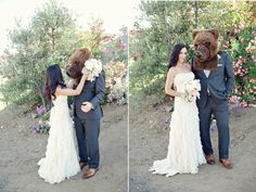 in love with my wedding bear <3