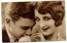 old, vintage, couple,kiss