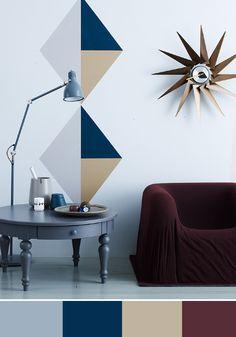 Tina hellberg interior - blue + burgundy