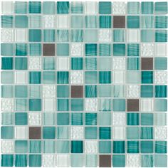 FOR BATH: Elida Ceramica�Royal Green Mixed Material Mosaic Square Indoor/Outdoor Wall Tile (Common: 12-in x 12-in; Actual: 11.75-in x 11.75-in)
