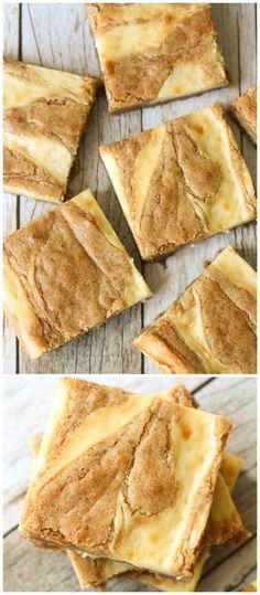 Cream Cheese Swirled Blondies - one of the best bar desserts you'll ever try! { lilluna.com }