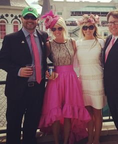 One of our clients @ The 2013 Kentucky Derby wearing a specialty made hot pink skirt. (Via Dornink)