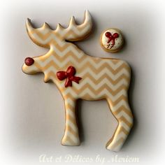 Christmas Chevron Reindeer Silhouette | Cookie Connection