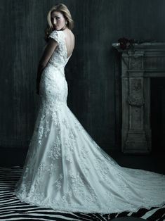 Allure Bridals : Couture Collection : Style C207 : Available colours : White/Silver, Ivory/Silver, Ivory/Light Gold/Silver (back)