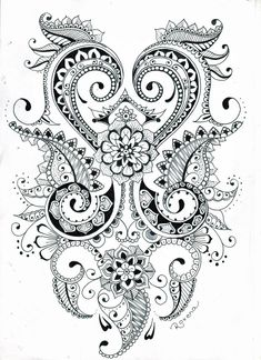 mehndi flower design by roxyloxy-d5wjd7a - deviantart
