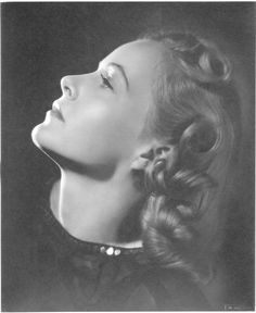 Collection of (3) oversize gallery portraits of Helen Westcott by Ernest A. Bachrach. Silver bromide matte 11 x 14 in. double-weight master prints (3) of a young blonde Helen Westcott (ca. 1940), from the personal collection of the photographer.